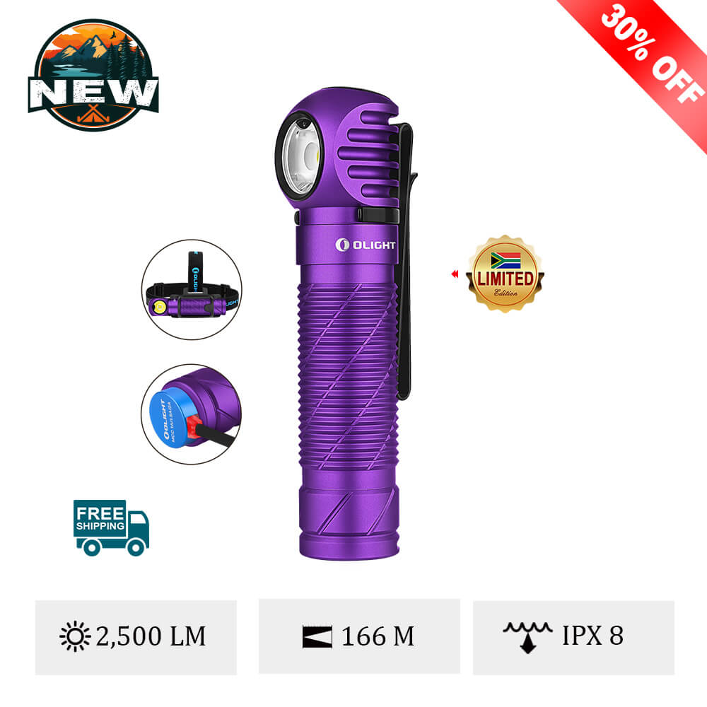 Olight Perun 2 Purple Handheld Torch or Headlamp