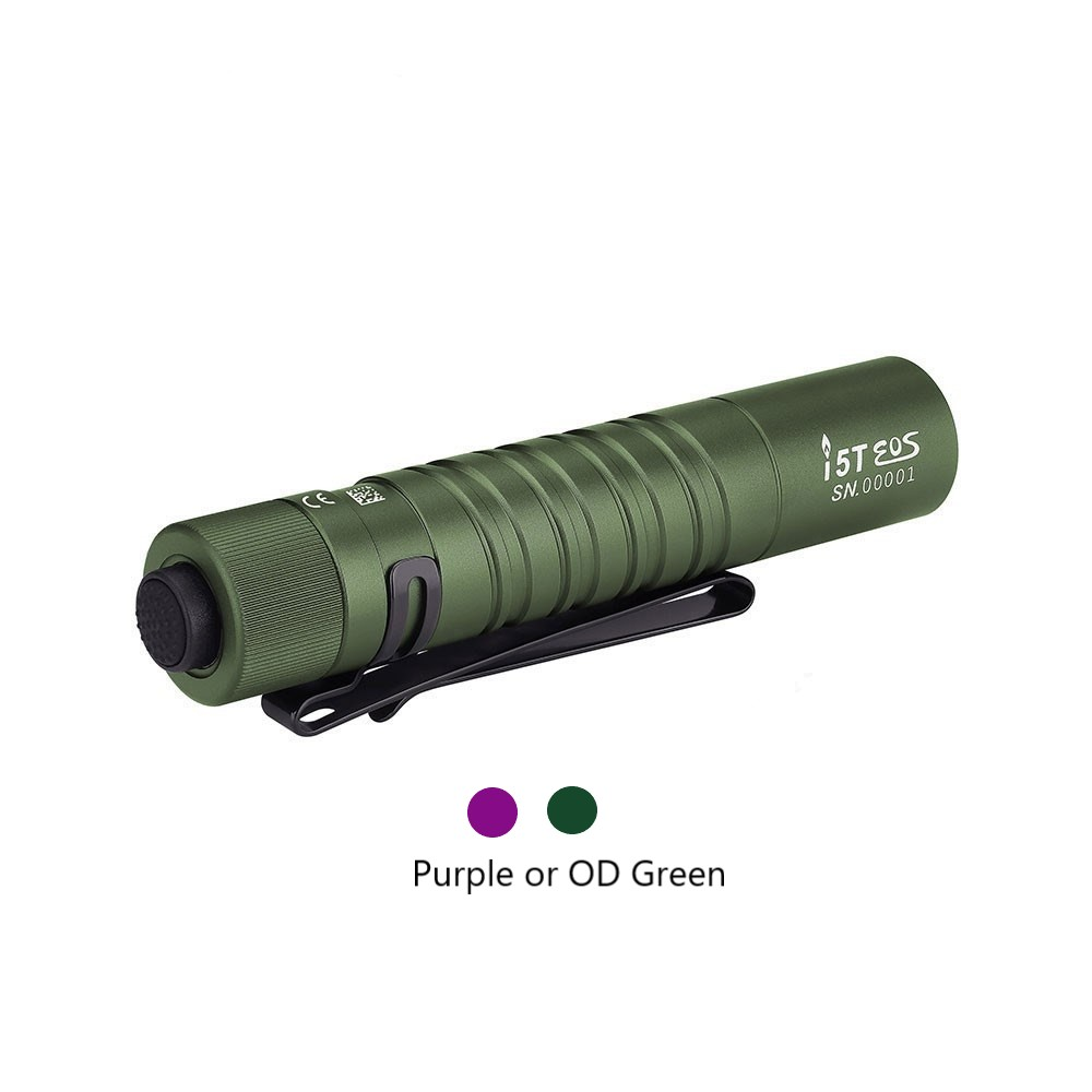 Olight i5T EOS 300 Lumens Small EDC Tactical Tail Switch Torch