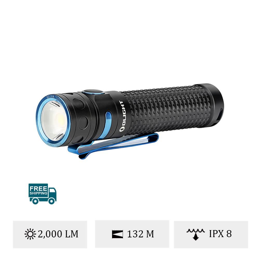 Olight Baton Pro 2000 Lumens EDC Camping Torch