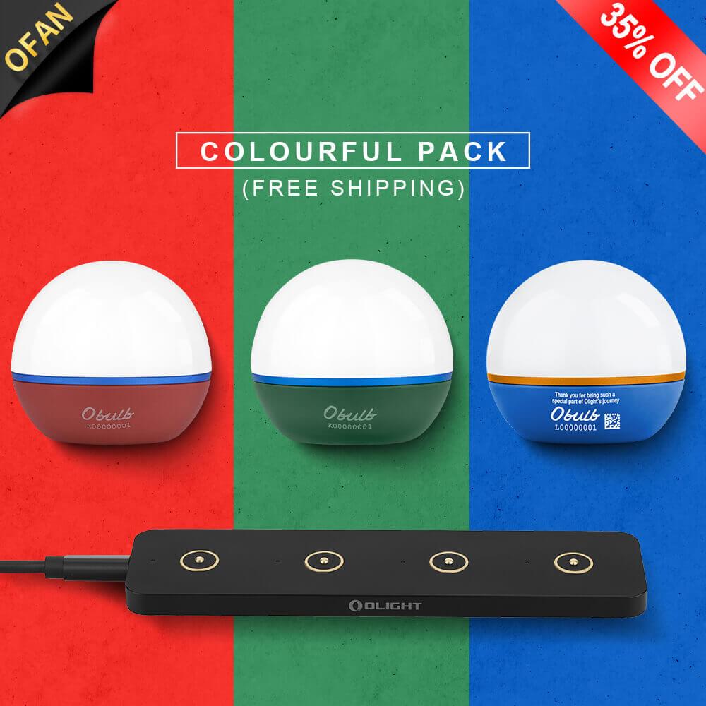 Obulb 3 Colour Bunlde Omino Black Pack