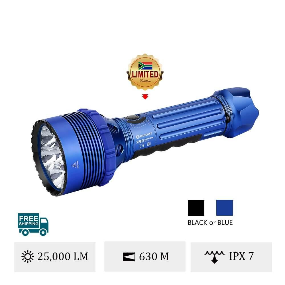 Olight X9R Marauder Brightest 25000 lumens Searchlight