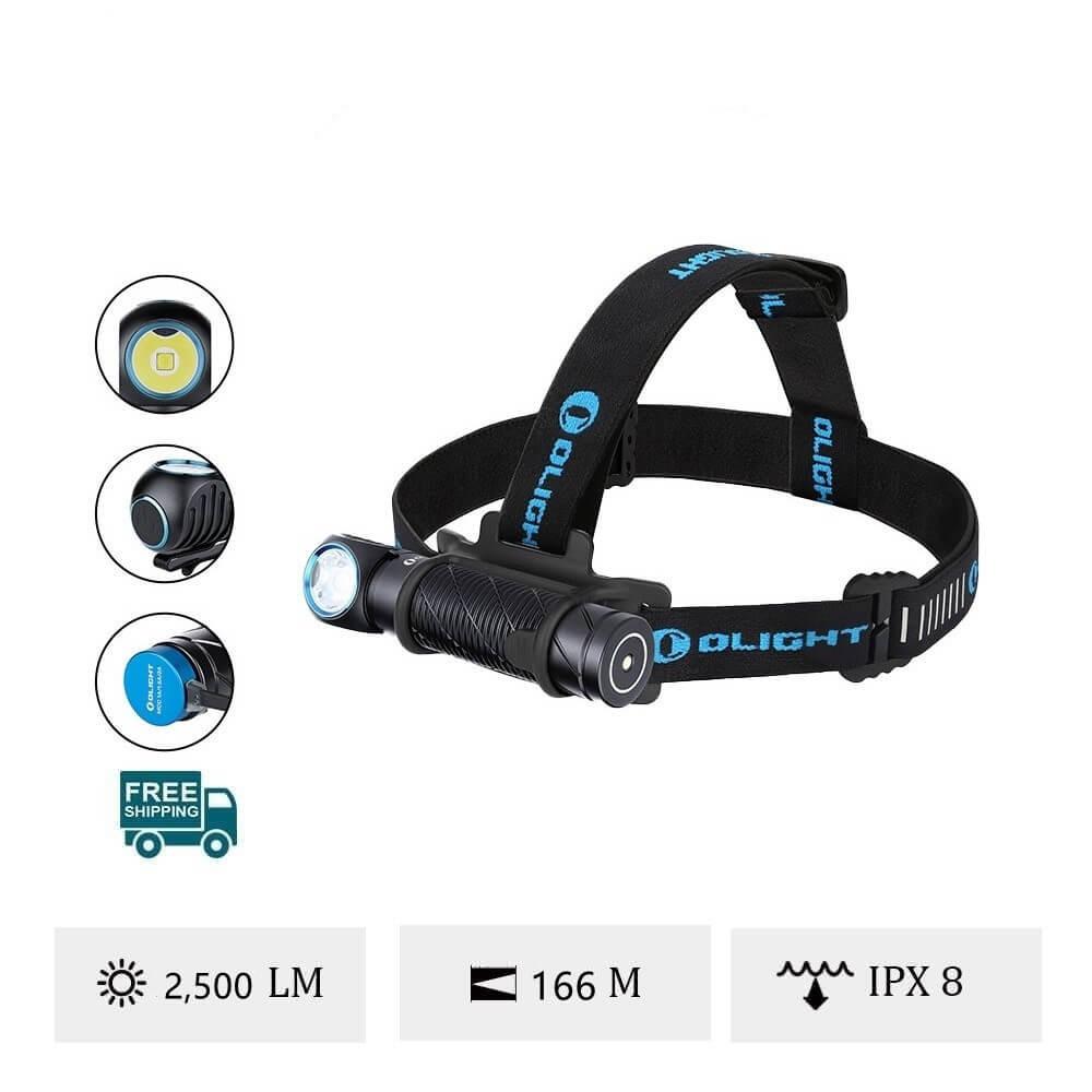 Olight Perun 2 Black Handheld Torch or Headlamp
